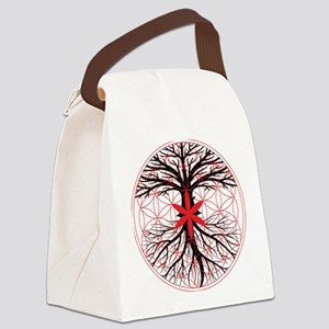 Tree of Life / Flower of Life Canvas Lunch Bag