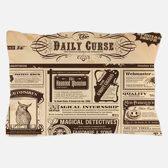 Old Newspaper Pillow Case