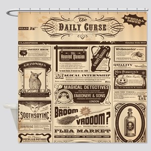 Old Newspaper Shower Curtain