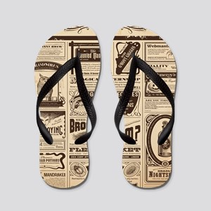Old Newspaper Flip Flops