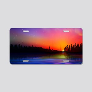 Sunrise Over The Water Aluminum License Plate