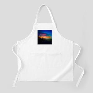 Sunrise Over The Sea And Lighthouse Apron