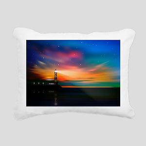 Sunrise Over The Sea And Lighthouse Rectangular Ca