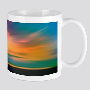 Sunrise Over The Sea And Lighthouse Mugs