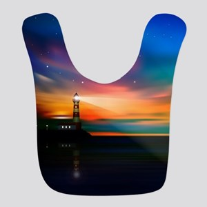 Sunrise Over The Sea And Lighthouse Bib
