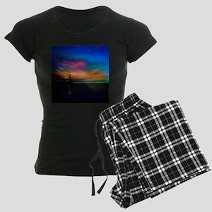 Sunrise Over The Sea And Lighthouse Pajamas