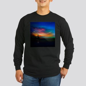Sunrise Over The Sea And Lighthouse Long Sleeve T-