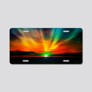 Sunset Over The Water Aluminum License Plate