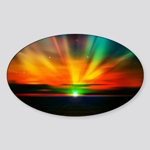Sunset Over The Water Sticker