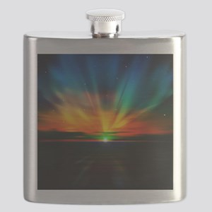 Sunset Over The Water Flask