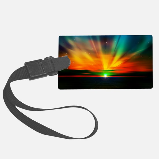 Sunset Over The Water Luggage Tag