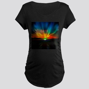 Sunset Over The Water Maternity T-Shirt