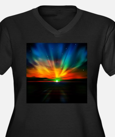 Sunset Over The Water Plus Size T-Shirt