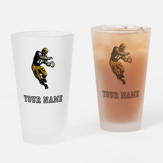 Quarterback (Custom) Drinking Glass