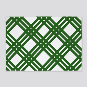 Evergreen Gingham Lattice 5'x7'Area Rug