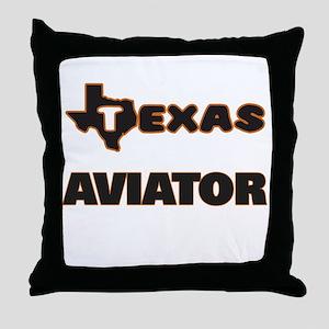 Texas Aviator Throw Pillow