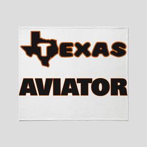 Texas Aviator Throw Blanket