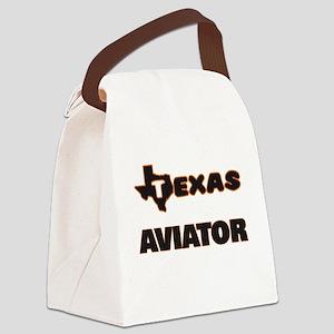 Texas Aviator Canvas Lunch Bag