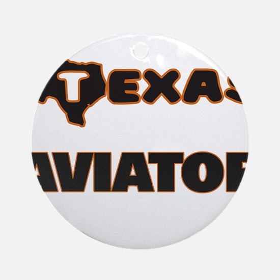 Texas Aviator Ornament (Round)