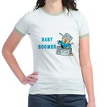 BABY BOOMER WITH DRUMS Jr. Ringer T-Shirt