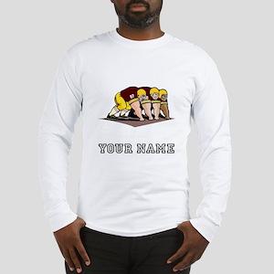 Football Linemen (Custom) Long Sleeve T-Shirt