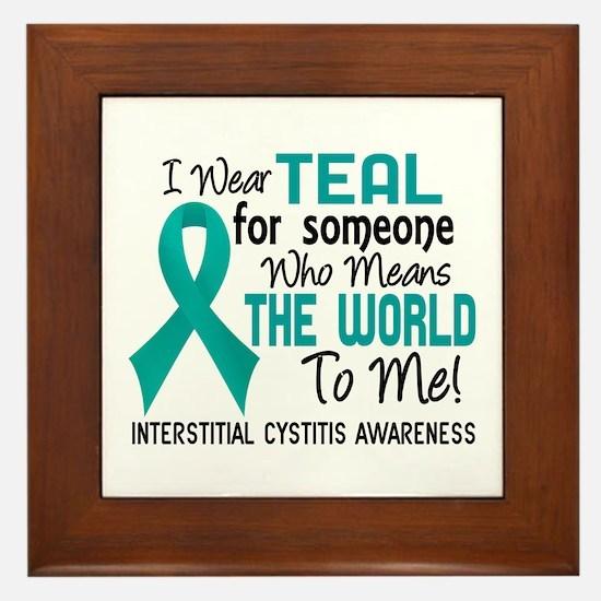 Interstitial Cystitis MeansWorldToMe2 Framed Tile