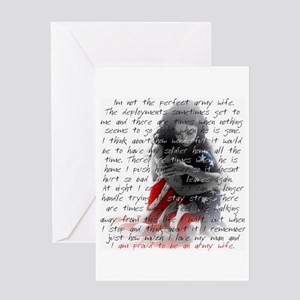 ARMY WIFE POEM Greeting Card