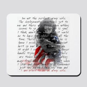 ARMY WIFE POEM Mousepad