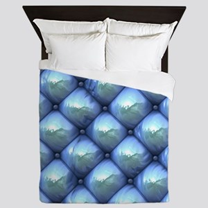Silky Reflection blue Queen Duvet