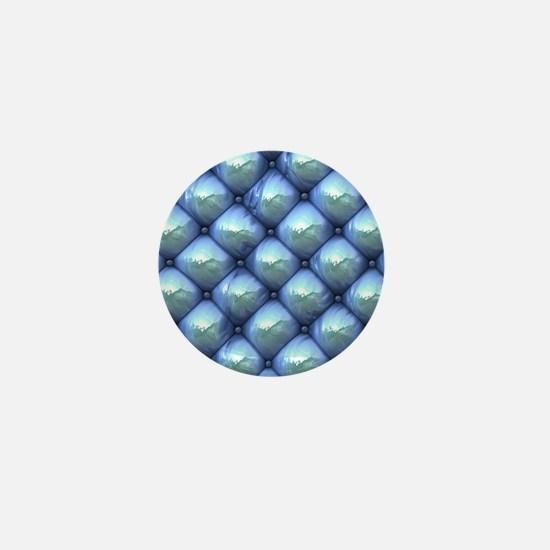 Silky Reflection blue Mini Button