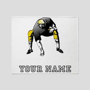 Football Lineman (Custom) Throw Blanket