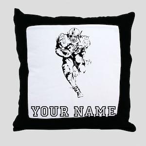 Running Back (Custom) Throw Pillow