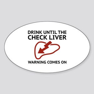 Check Liver Warning Sticker (Oval)