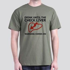 Check Liver Warning Dark T-Shirt