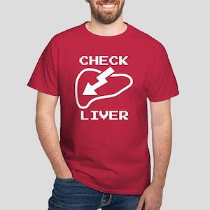 Check Liver Dark T-Shirt