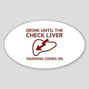 Check Liver Warning Sticker (Oval)