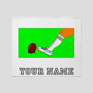 Football Kickoff (Custom) Throw Blanket