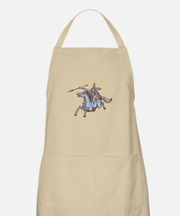 Valkyrie Warrior Riding Horse Spear Etching Apron