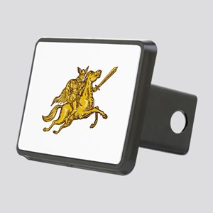 Valkyrie Warrior Riding Horse Sword Etching Hitch
