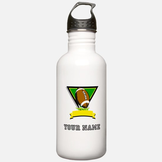 Football Symbol (Custom) Water Bottle