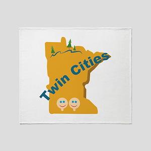 Twin Cities Throw Blanket