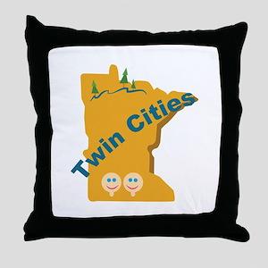 Twin Cities Throw Pillow