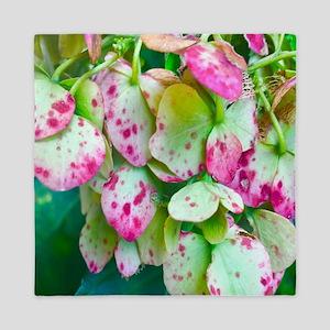 Cotton Candy Hydrangea Queen Duvet