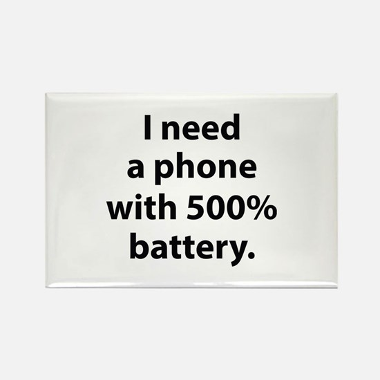 500 Percent Battery Rectangle Magnet
