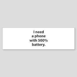 500 Percent Battery Sticker (Bumper)