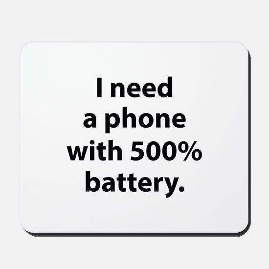 500 Percent Battery Mousepad