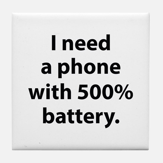 500 Percent Battery Tile Coaster