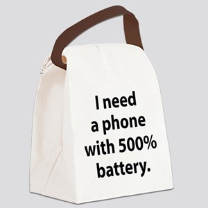 500 Percent Battery Canvas Lunch Bag