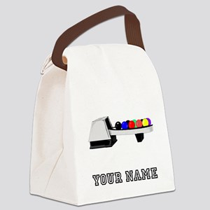 Bowling Ball Return Canvas Lunch Bag