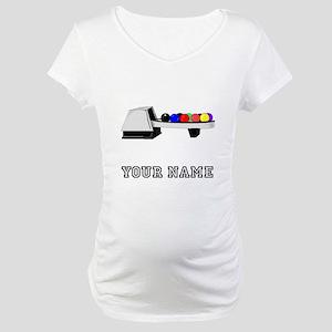 Bowling Ball Return Maternity T-Shirt
